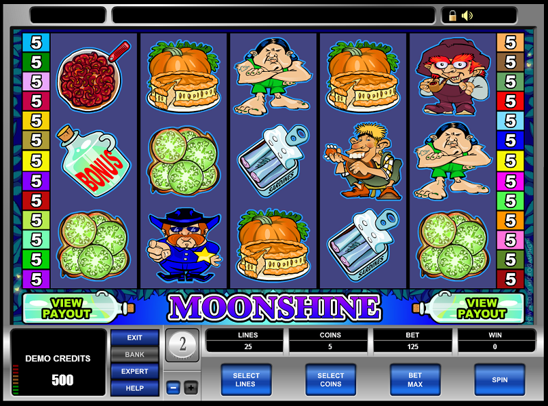 slot machine moonshine