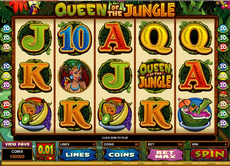 screenshot slot queen of the jungle